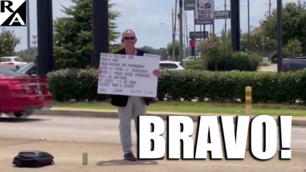 """Brother Can You Spare a Job? Texas Man """"Panhandling"""" for Work, Refuses Free Money"""